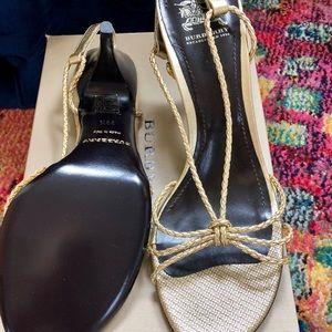 Burberry gold sandal